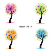 Four season trees — Stock Vector