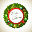 Royalty-Free Stock Vector: Christmas wreath
