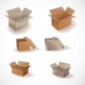 Set 6 boxes — Stock Vector