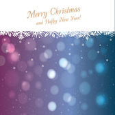 Lights on christmas background — Stock Vector