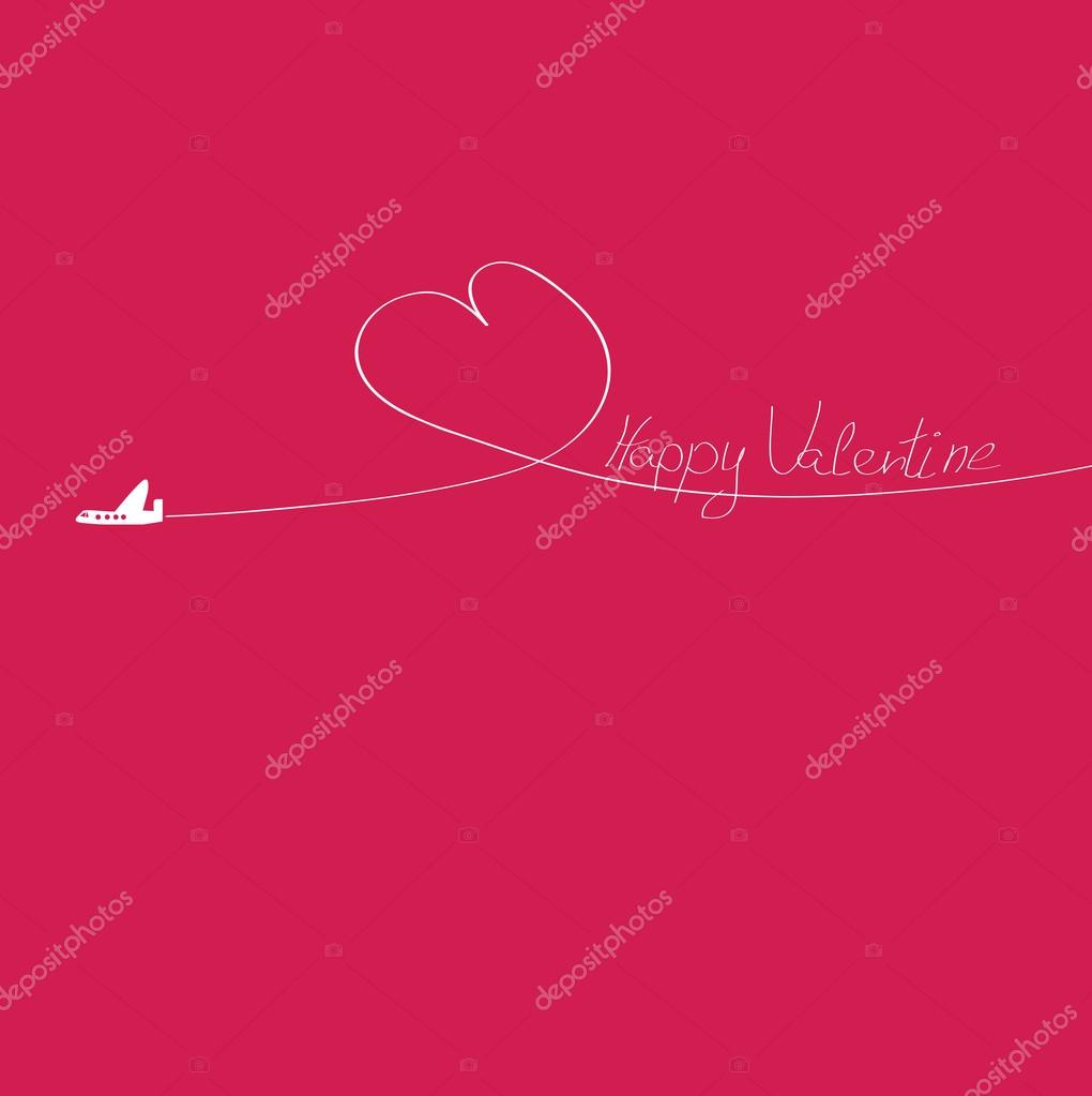 Cute valentine greeting card  Stock Vector #18187731