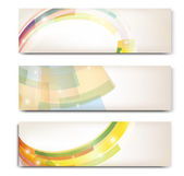 Abstract trendy vector banner horizontal set — Stok Vektör