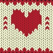 Knitted vector heart - Stock Vector