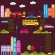 Stock Vector: City life scene