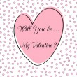 Valentine heart vector frame — Stockvectorbeeld