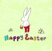 Green  Retro Easter card — Stock Vector