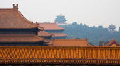 Forbidden City and Jingshan Park — Stock Photo
