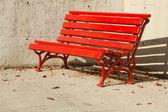 Bench red — Stock fotografie