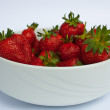 bowl of strawberries — Stock Photo