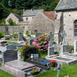 Old church and cemetery in Omonville-la-Petite, Normandy, France — Foto de Stock
