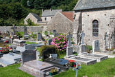 Old church and cemetery in Omonville-la-Petite, Normandy, France — Stock Photo