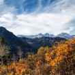 Stock Photo: Autumn View of Twin Peaks