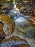 Waterfall and Wet Rocks — Stock Photo