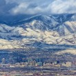 Zoomed in Salt Lake City - Foto Stock