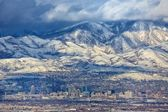 Zoomed in Salt Lake City — 图库照片