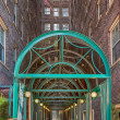 Stock Photo: Green Awning