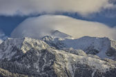 Low Clouds on Lone Peak — Stock Photo