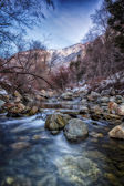 Cold Stones on the Winter River — Stock Photo