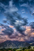 Rumble Over the Wasatch HDR — Stock Photo