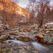 Warm Colors on a Winter River HDR — Stock Photo