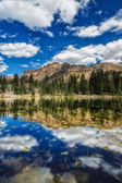 Vertical of Butterfly Lake — Stock Photo