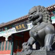 Lion statue inside the Summer Palace in Beijing, China — Stock Photo