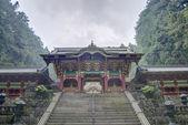 Yasha-mon Gate of Iemitsu Mausoleum (Taiyuinbyo), Nikko, Japan. Shrines and Temples of Nikko is UNESCO World Heritage Site since 1999. — Stock Photo