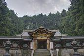 Kara-mon Gate of Iemitsu Mausoleum (Taiyuinbyo), Nikko, Japan. Shrines and Temples of Nikko is UNESCO World Heritage Site since 1999. — Fotografia Stock