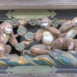 Three wise monkeys of Toshogu Shrine, Nikko, Japan. Shrines and Temples of Nikko is UNESCO World Heritage Site since 1999 — Stock Photo