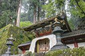 Koka-mon Gate of Iemitsu Mausoleum (Taiyuinbyo), Nikko, Japan. Shrines and Temples of Nikko is UNESCO World Heritage Site since 1999. — Stock Photo