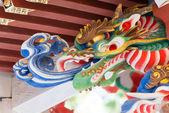 Escultura de dragón en el Santuario de mitsumine, chichibu, saitama, Japón — Foto de Stock