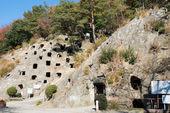 йошими hyakuana древних погребальных гробниц, йошими, сайтама, япония — Стоковое фото
