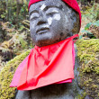 Jizo statue in Kanmangafuchi,Nikko,Japan,This particular group of Jizo statues is called Bake Jizo(Ghost Jizo). — Stock Photo