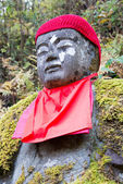 "Jizo statue in Kanmangafuchi,Nikko,Japan,This particular group of Jizo statues is called ""Bake Jizo""(Ghost Jizo). — Stok fotoğraf"
