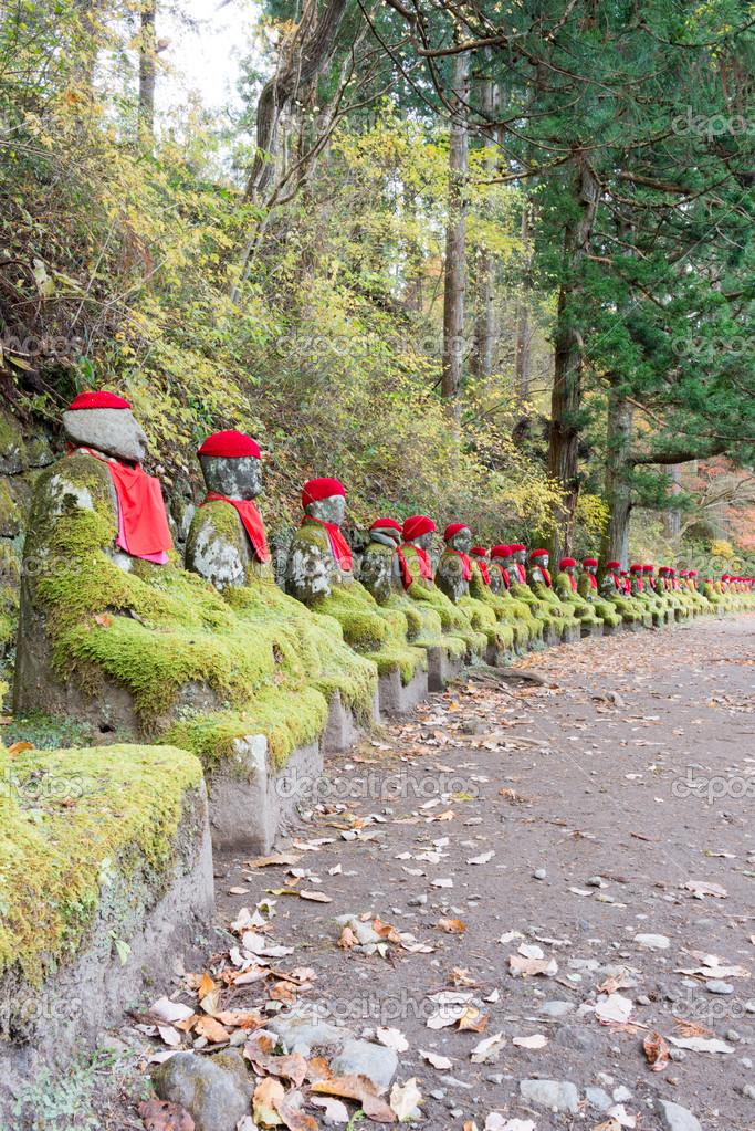Jizo Statues Nikko Jizo Statue in Kanmangafuchi