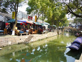 TONGLI - March, 20 2009: Tongli Ancient village is located in Suzhou, Jiangsu, China on March 20,2009. The village is one of the most famous Water townships in China. — Stock Photo