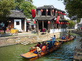 TONGLI - March, 20 2009: Tongli Ancient village is located in Suzhou, Jiangsu, China on March 20,2009. The village is one of the most famous Water townships in China. — Stok fotoğraf