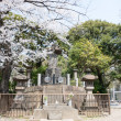 TOKYO, JAPAN - APRIL 1 2014:Tomb site of Shogi-tai soldiers. The Shogitai was an army of the Edo shogunate, which was organized in 1868 to fight against the Emperor at the end of The edo era. — Stock Photo #44005853