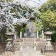 TOKYO, JAPAN - APRIL 1 2014:Tomb site of Shogi-tai soldiers. The Shogitai was an army of the Edo shogunate, which was organized in 1868 to fight against the Emperor at the end of The edo era. — Stock Photo
