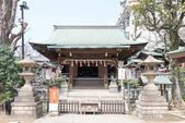 TOKYO, JAPAN - APRIL 1 2014: Gojoten Shrine on April 1, 2014 in Ueno Park. Ueno Park was established in 1873 on lands formerly belonging to the temple of Kan'ei-ji. — Stock Photo