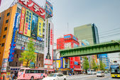 """TOKYO, JAPAN - APRIL 16 2014: Akihabara district. Akihabara is Tokyo's """"Electric Town"""". This area is also known as the center of Japan's otaku (diehard fan) culture. — Stock Photo"""