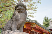 TOKYO, JAPAN - APRIL 16 2014: Asakusa Shrine in Senso-ji Temple, Tokyo, Japan.The Senso-ji Buddhist Temple is the symbol of Asakusa and one of the most famous temples in all of Japan. — Stock Photo