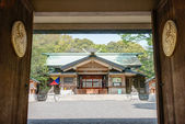 TOKYO, JAPAN - APRIL 17 2014: Togo Shrine, Tokyo, Japan. Togo Shrine is dedicated to the divine souls of Marshal-Admiral Marquis Togo Heihachiro(27 January 1848 - 30 May 1934). — Stock Photo
