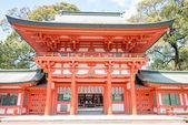 SAITAMA, JAPAN - APRIL 14 2014: Hikawa Shrine, Saitama, Japan. According to the shrine's tradition, the shrine was established during the reign of Emperor Kosho in 473 BC. — Stock Photo