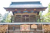 Chichibu, japan - april 26 2014: chichibu shrine, chichibu, saitama, japan. chichibu shrine är den viktigaste helgedomen i distriktet chichibu och har varit dyrkas på av människor från antiken. — Stockfoto