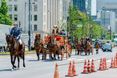 TOKYO, JAPAN - May 7 2014:Horse-drawn carriages at the Ceremony of the Presentation of Credentials,Imperial Palace, Tokyo, Japan. — Stock Photo