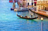 Gondola in winter Venice — Stock Photo