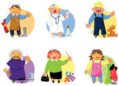 People of various professions set. — Stock Vector