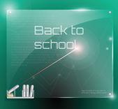 Future glass class board — Stock Vector