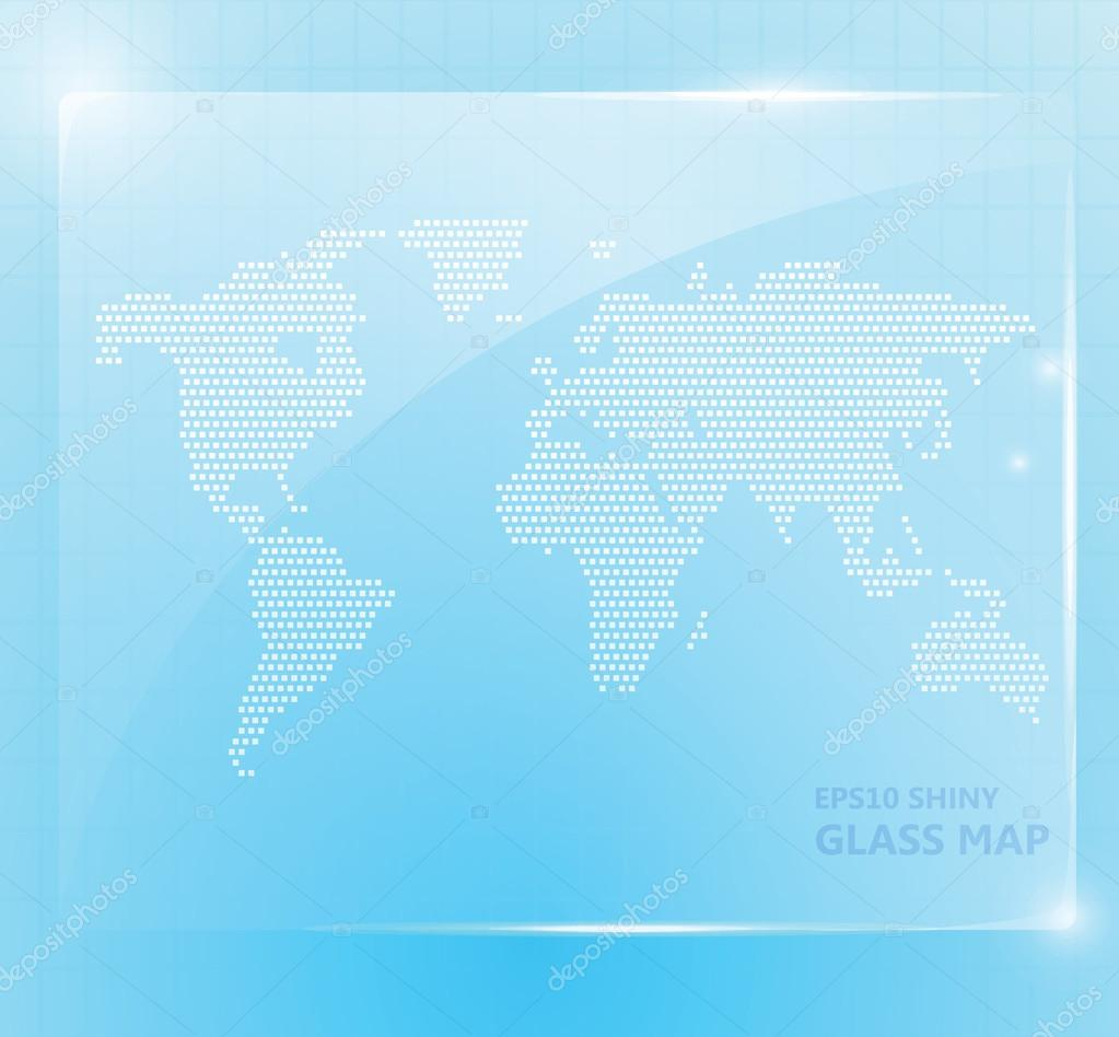 Shiny glass world map wallpaper — Stock Vector © Broccoly ...